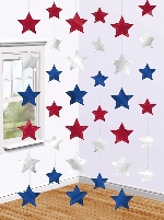 Decoracion Colgante USA Star String Decorations - 2.1m