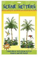 Decorado de pared Palm Tree Scene Setters Add-On - 85cm x 1.65m