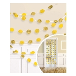 Decoracion Colgante Sunshine Yellow Glitter String Decoration 2.13m