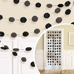 Decoracion Colgante Black Glitter String Decoration 2.13m