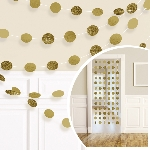 Decoracion Colgante Gold Glitter String Decoration 2.13m