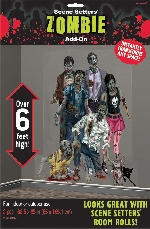 2 Decoracion escena de pared Add-Ons Zombie 165 x 85 cm