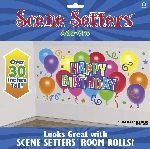 Decorado de pared General Birthday Scene Setters