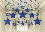 Decoracion Colgante Blue Swirl Party Pack Shooting Stars