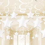 Decoracion Colgante White Swirl Decorations