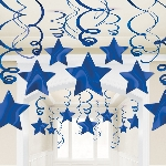 Decoracion Colgante Bright Royal Blue Swirl Decorations