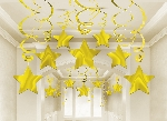 Decoracion Colgante Swirl Party Pack Shooting Stars Gold