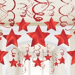 Decoracion Colgante Apple Red Swirl Decorations