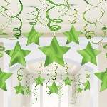 Decoracion Colgante Kiwi Green Swirl Decorations