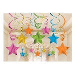 Decoracion Colgante Multi Colour Swirl Decorations