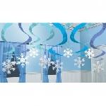 15 Swirl Decorations Winter Wonderland 61 cm