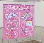 Decorado de pared Party Princess Scene Setters - 1.65m x 1.9m