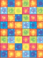 Decorado de pared 70's Disco Boogie Squares Room Rolls  - 4 Rolls