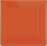 Plato 10 Redondo Naranja