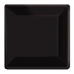 Plato 25Cm Sq Black