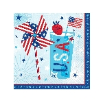 Servilletas Celebrate USA Luncheon Napkins 33cm