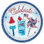 Platos Celebrate USA Paper Plates 27cm