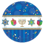 Plato 26.6cm MdCt Hanukkah Celebrations Paper Plates 26cm