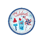 Platos Celebrate USA Paper Plates 18cm