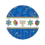 Plato 17.7cm Hanukkah Celebrations Paper Plates 18cm
