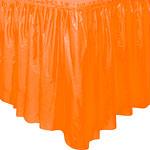 Faldon Para Mantel Naranja