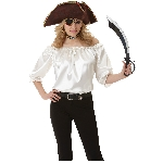 BLOUSE PIRATE WOMANS IVORY