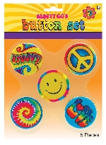 BUTTONS 60S HIPPIE