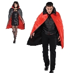 Disfraz AccReversible Black & Red Cape - Talla Adulto