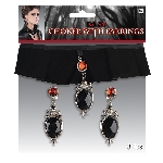 Disfraz Adulto Gothic Velvet Choker & Earrings