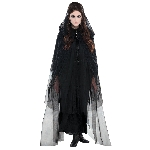 Disfraz Acc Adulto Gothic Lace Hooded Capes