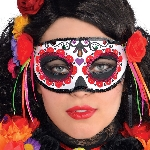 Disfraz Acc Adulto Day of the Dead Half Mask