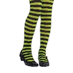 Tights Strpd Green/blk Child S/m