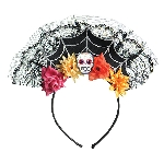 Disfraz Acc Adulto Day of the Dead Spiderweb Headbands