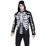 Disfraz Adulto Black & Bone Skeletons Men's Hoodies - Talla Adulto Standard
