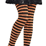 Tights Strpd Org/blk Child S/m