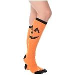 Disfraz Acc Jack-o-Lantern Knee High Socks