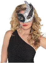 Silver Sequin Negro Swish Mascara