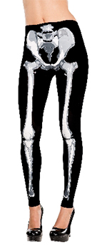 Disfraz Acc Adulto Black & Bone Skeletons Leggings - Standard Talla