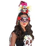 Disfraz Acc Day of the Dead Sugar Skull Headbands - Talla Adulto