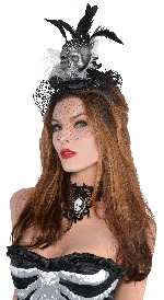 Disfraz Acc Skull Couture Headbands - Talla Adulto