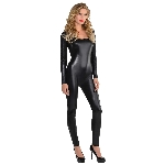 Disfraz Adulto Black Liquid Catsuit - Talla Small/Medium