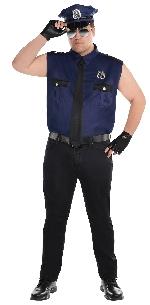 DISFRAZ ADULTO: POLICIA TALLA XL