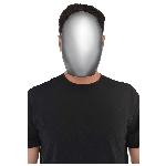 Disfraz Acc Faceless Silver Mask