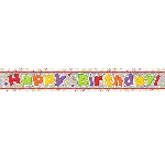 Banderin Happy Birthday Holographic Foil 2.7m