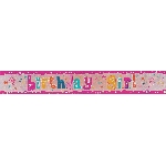 Banderin Birthday Girl Holographic Foil 2.7m
