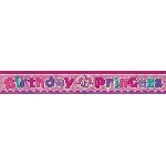 Banderin Birthday Princess Holographic Foil 2.7m