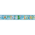 Banderin Happy 1st Birthday Boy Holographic Foil 2.7m