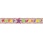 Banderin Happy 2nd Birthday Holographic Foil 2.7m