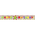 Banderin Happy 5th Birthday Holographic Foil 2.7m