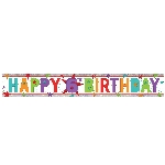 Banderin Happy 6th Birthday Holographic Foil 2.7m